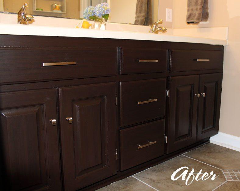 Bathroom Cabinet Makeover Under 100