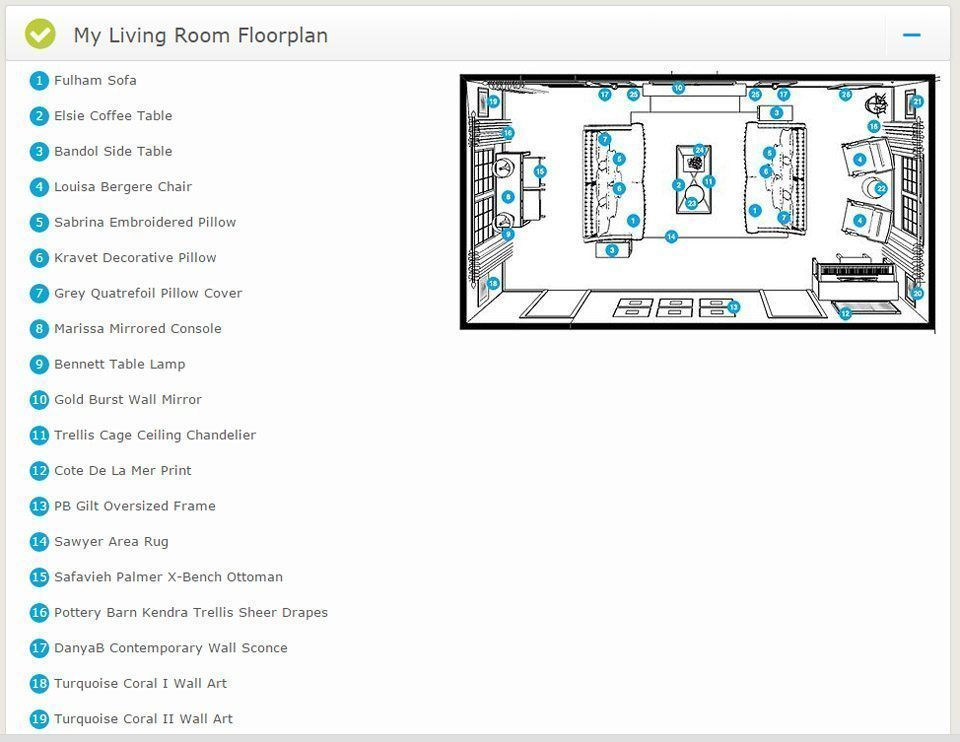 Virtual interior design living room floorplan a space to for Interactive interior design