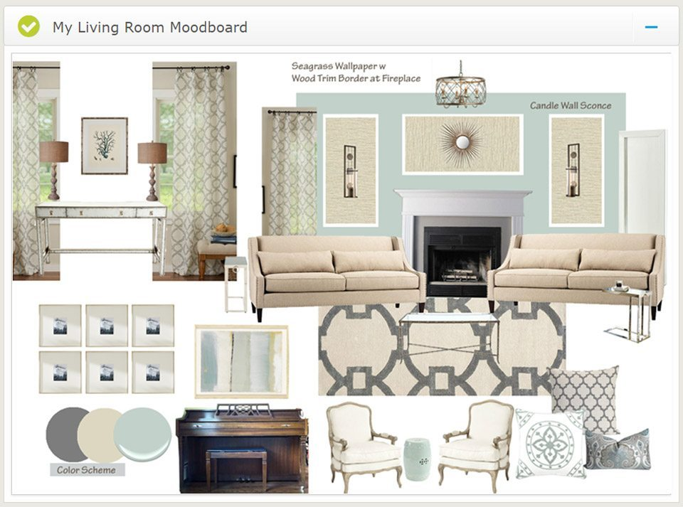 Virtual Interior Design EDesign Moodboard. Virtual Interior Design from A Space To Call Home