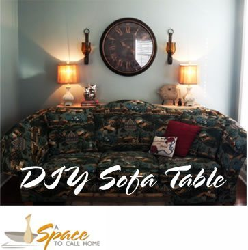 DIY Sofa Table – Wall Mounted