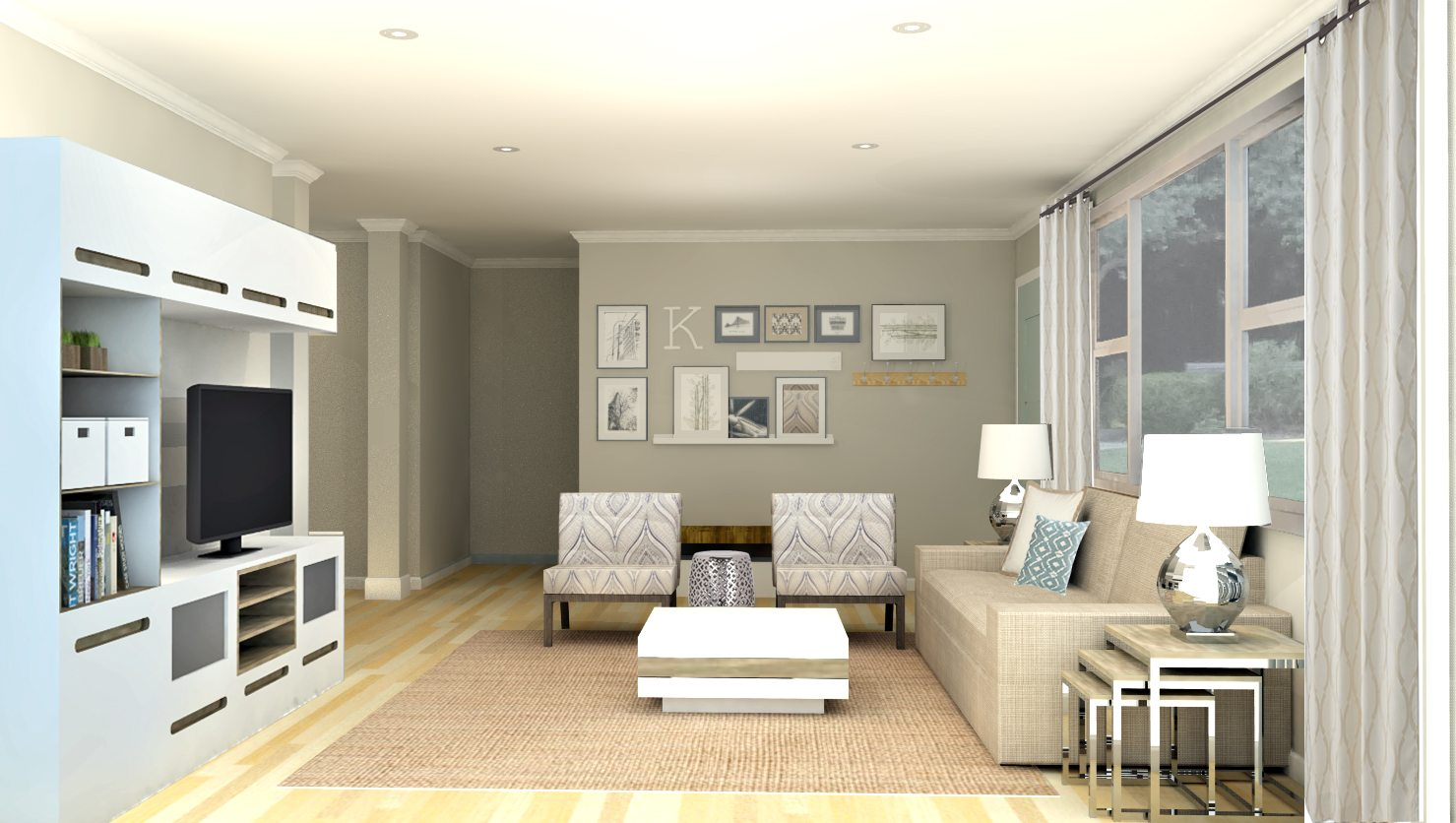 Merveilleux Contemporary Living Room Design