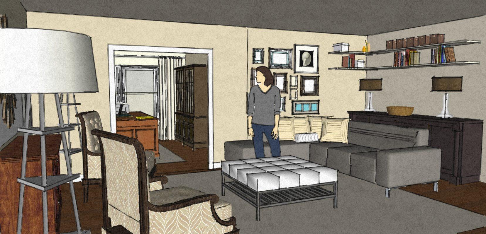 Design portfolio modern living room wilmington nc for Virtual living room designer