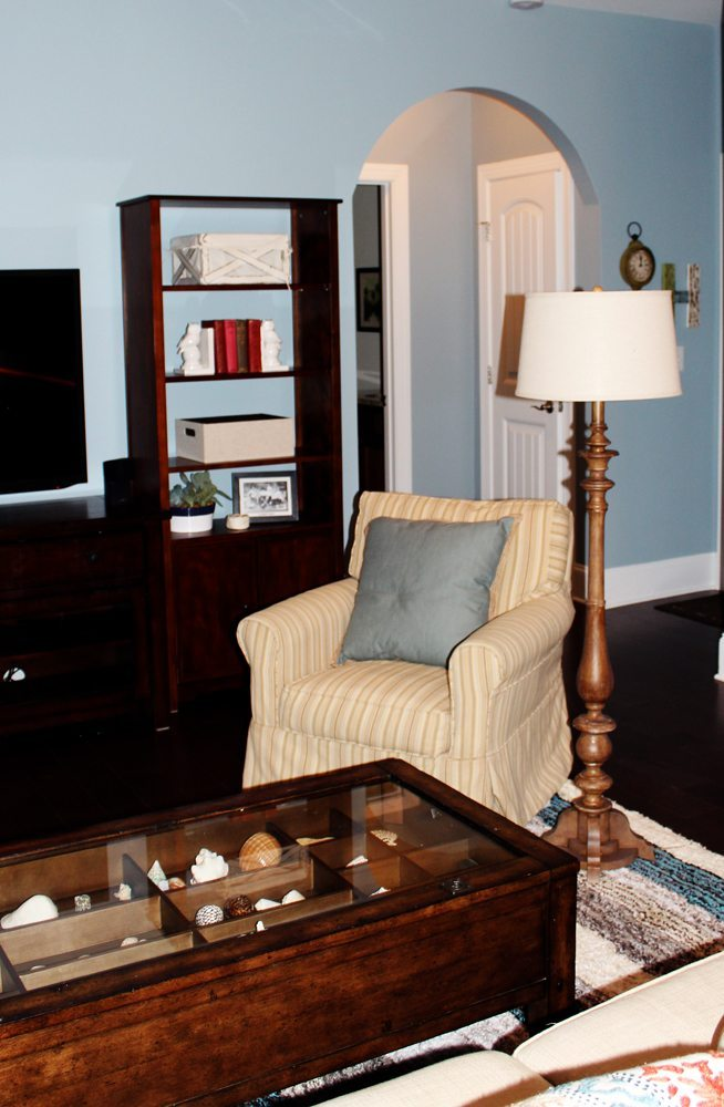 transitional living room bookcase a space to call home
