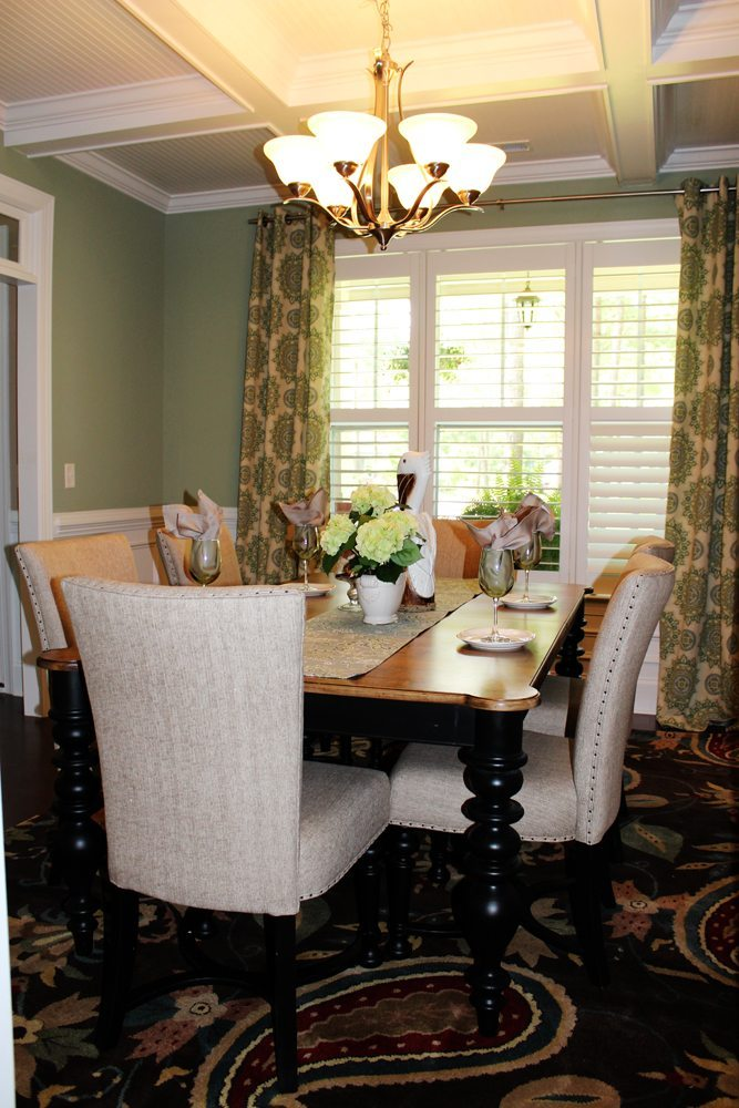 Transitional Dining Room Makeover Before And After