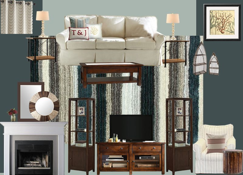 Transitional Living Room Design And Breakfast Nook Design A - Living room virtual design