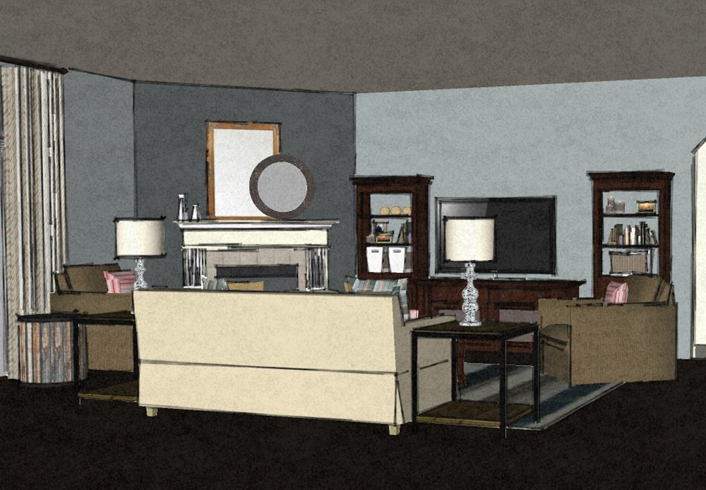Transitional virtual living room design 2 a space to - Virtual living room designer ...