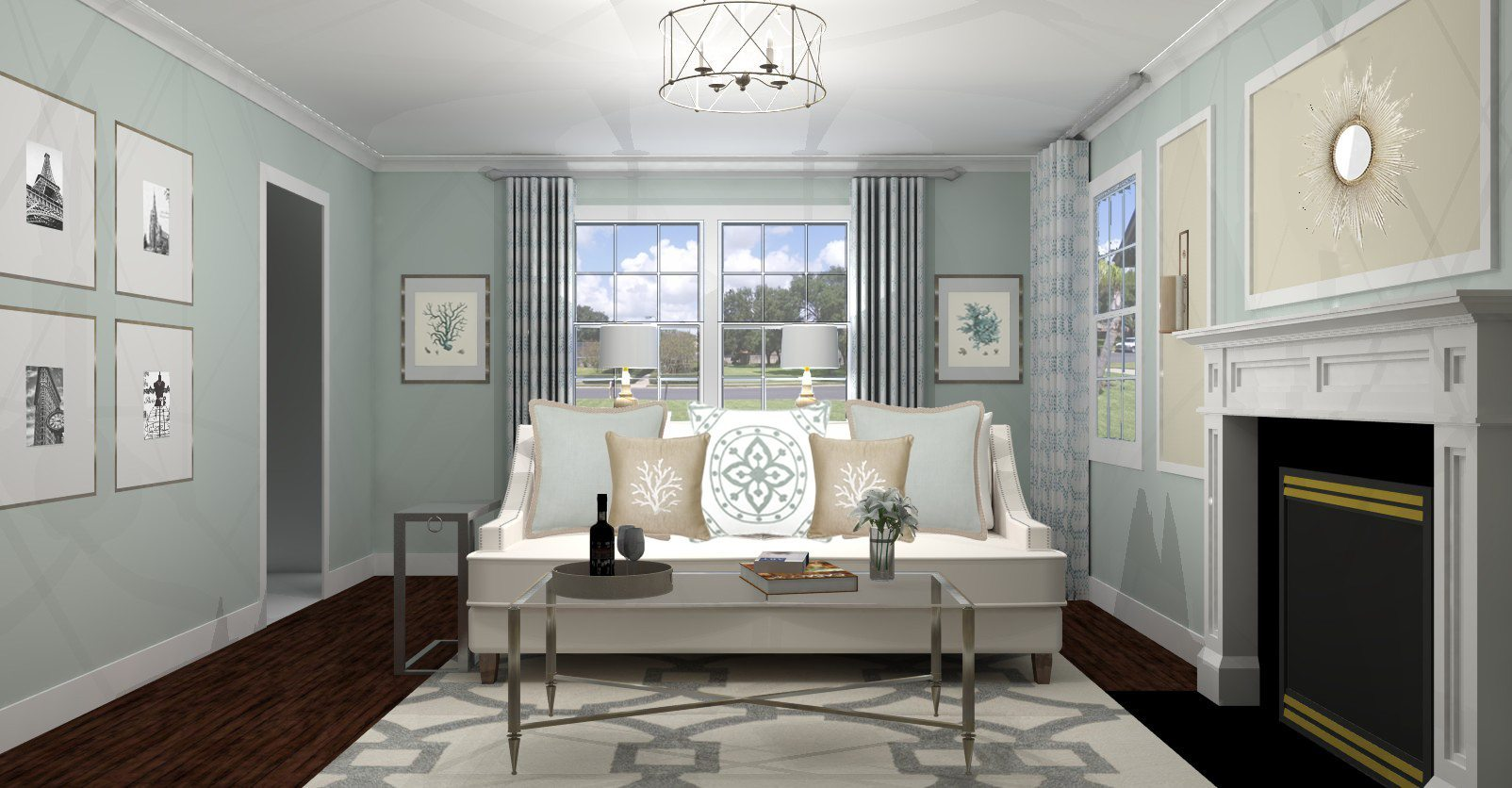 Traditional Living Room Design – Canaan, CT