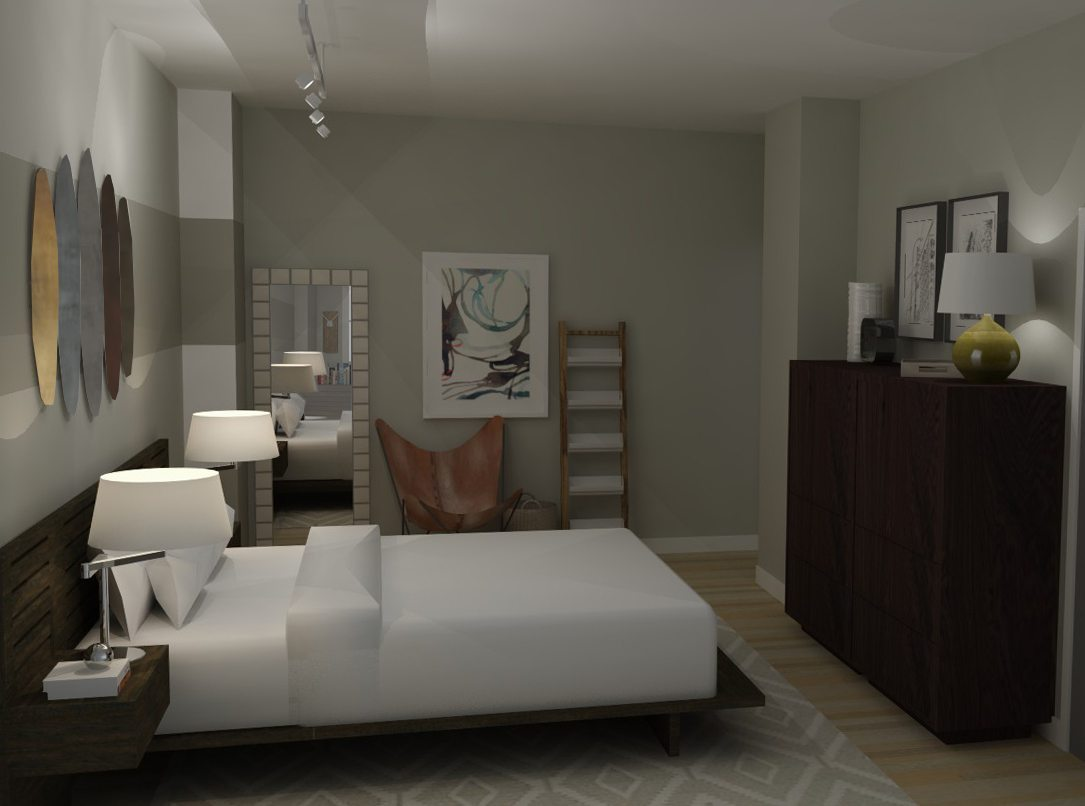 Loft apartment bedroom industrial modern a space to for Shop with loft apartment