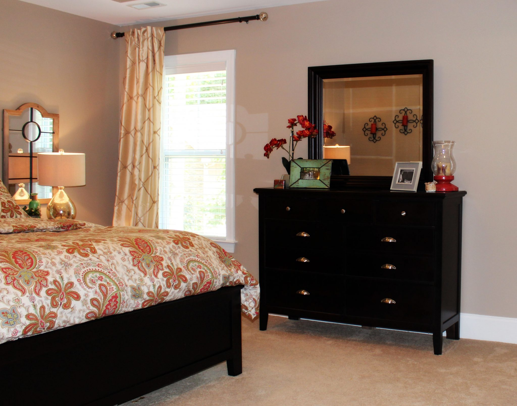 transitional-master-bedroom-dresser-decor- A Space to Call Home