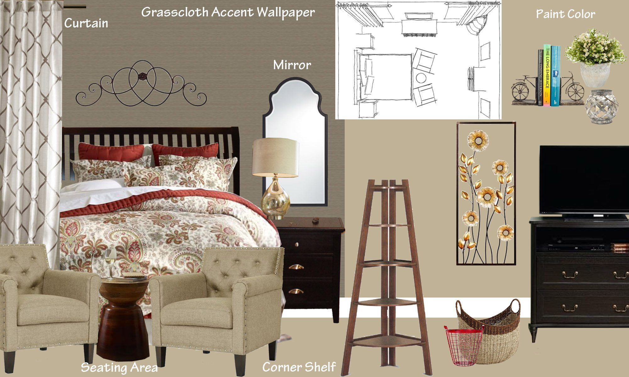 transitional master bedroom makeover in hampstead nc a space to virtual interior design concept images moodboard