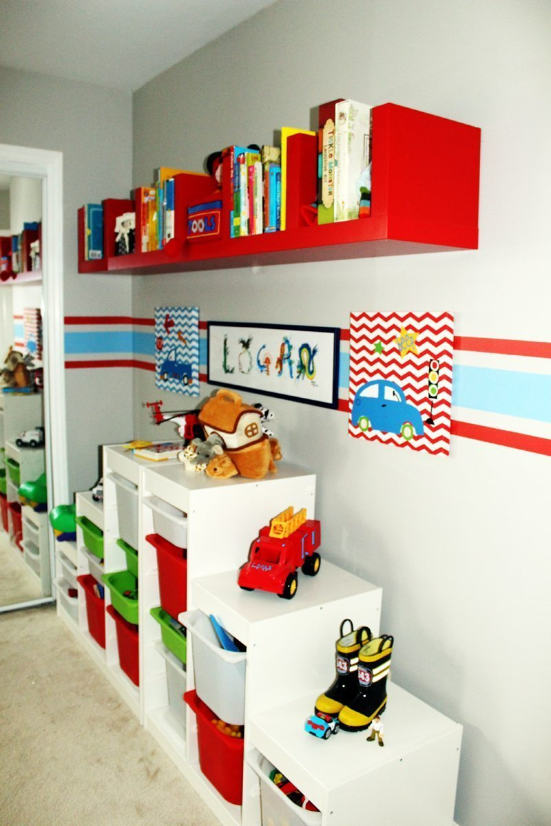 Toddler Room Ideas Wall Decal Book Storage
