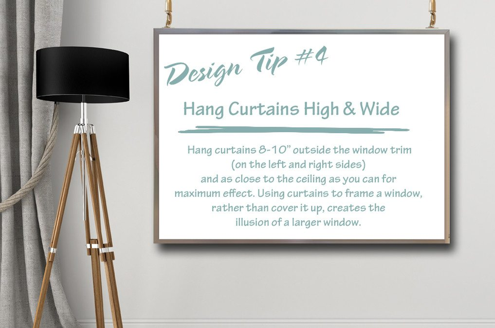 Design Tips & Tricks – #4 How To Hang Curtains