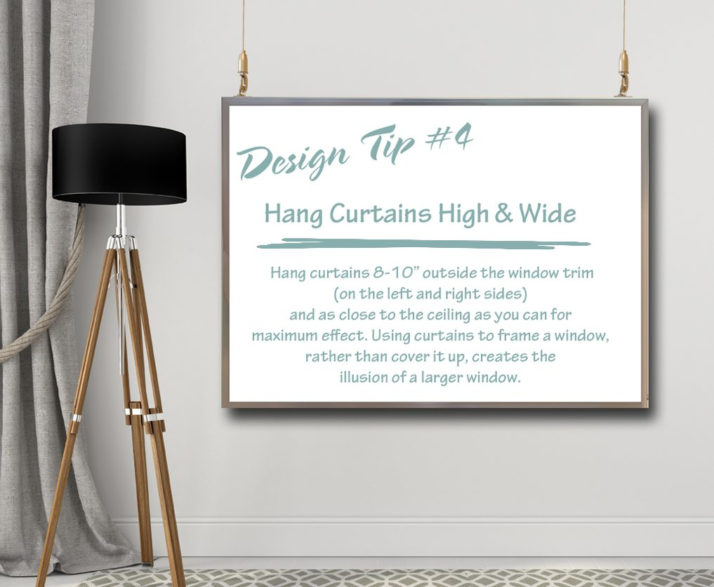 How To Hang Curtains Design Tips & Tricks  4 How To Hang Curtains  A Space To Call Home