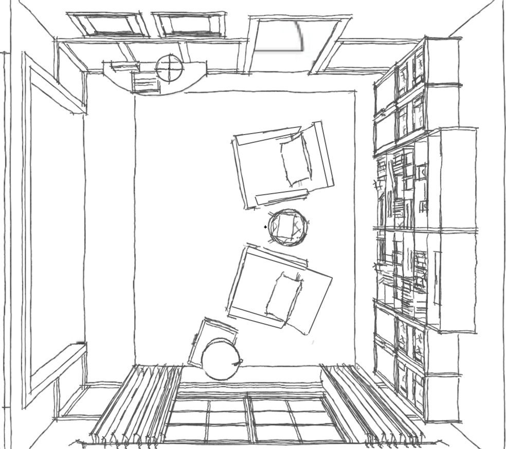 style type room layout