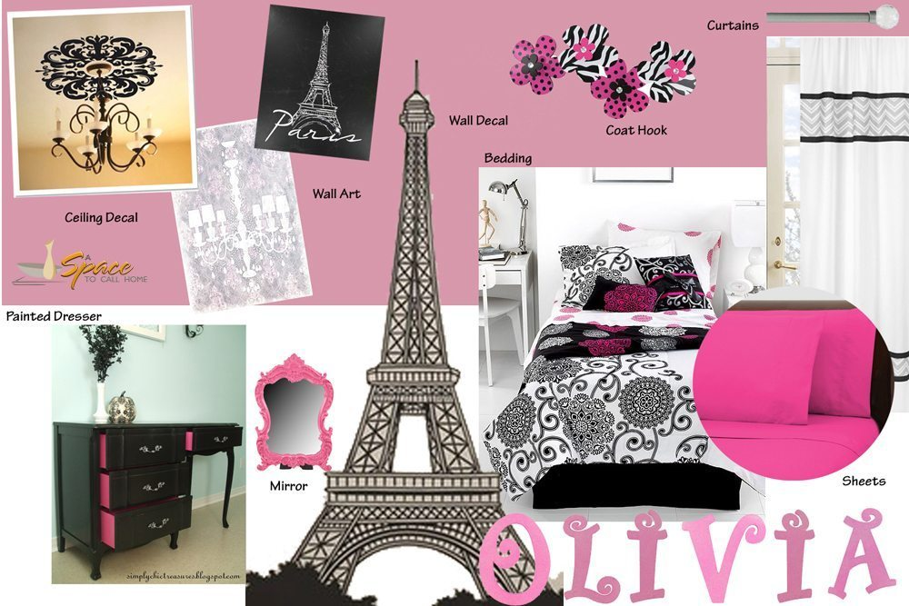 Paris Pink Themed Teen Bedroom. Teen Paris Bedroom Paris Themed Room Pinterest Black White And