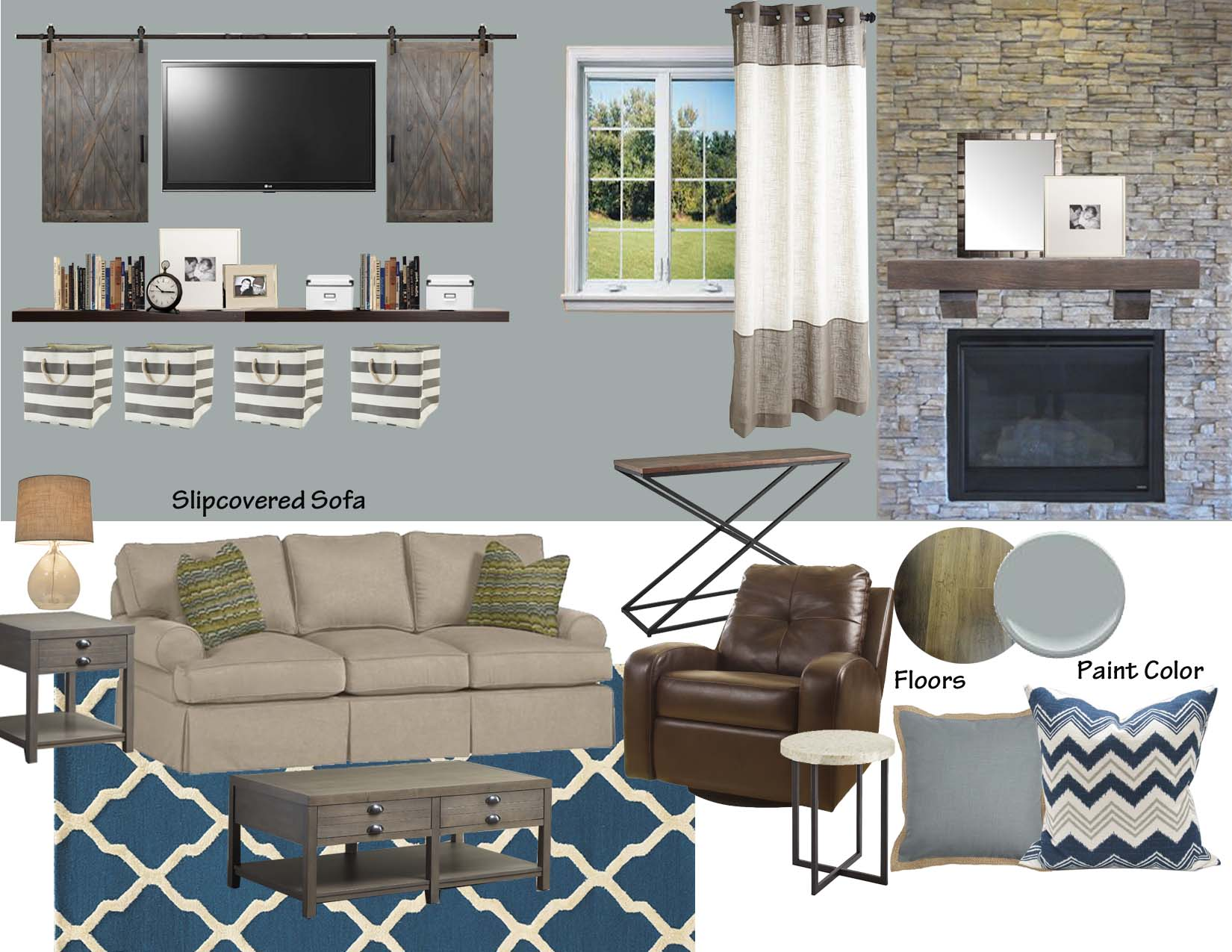 Nice Modern Rustic Living Room Inspiration Board Part 24