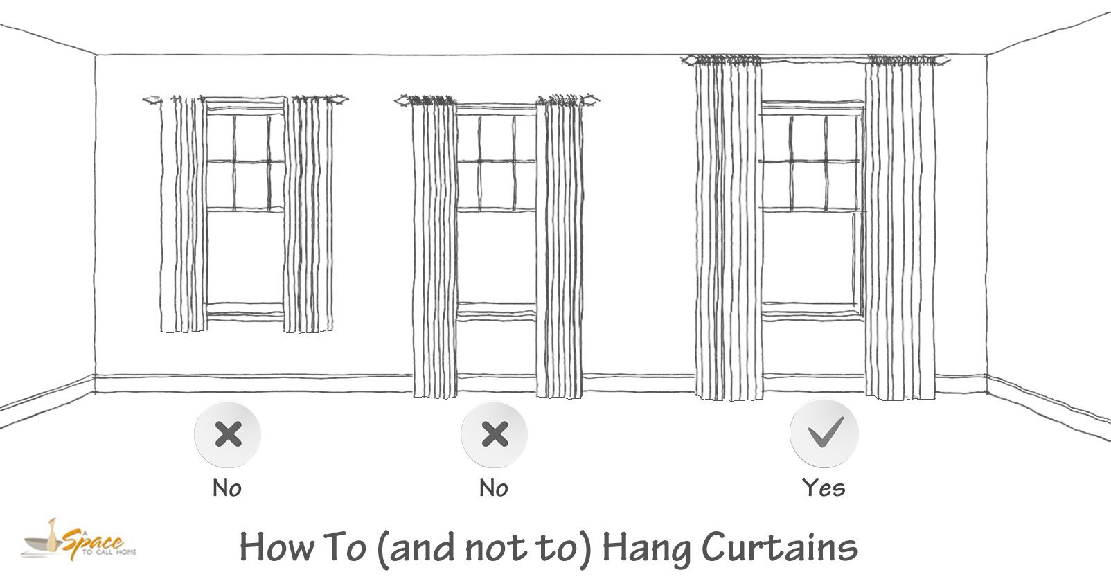Hanging Curtain Rod How To Install A Curtain Rod With Pictures