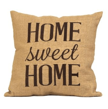How To Decorate A Farmhouse Living Room - Burlap Pillow