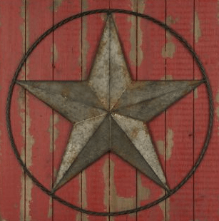red rustic star how to decorate a farmhouse living room
