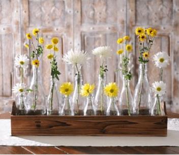 farmhouse decor bud vase tray