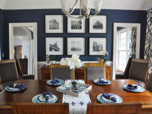 Modern Dining Room Design Ideas – Blue & Teal