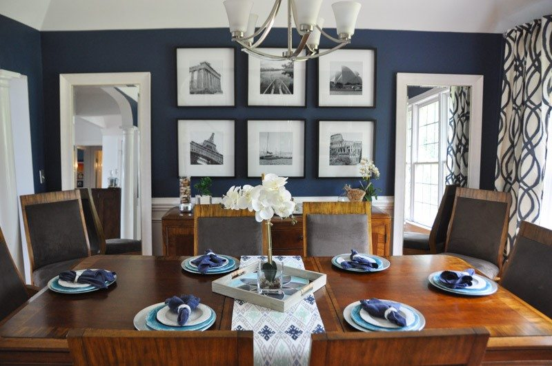 Navy blue dining rooms modern dining room design ideas for Dining room ideas in blue