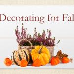 Fall Decorations DIY