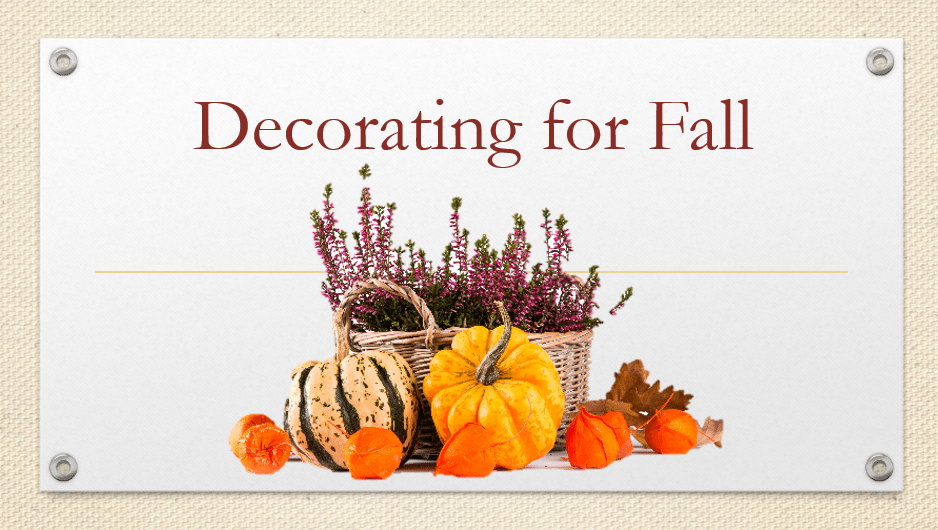Fall Decorations DIY