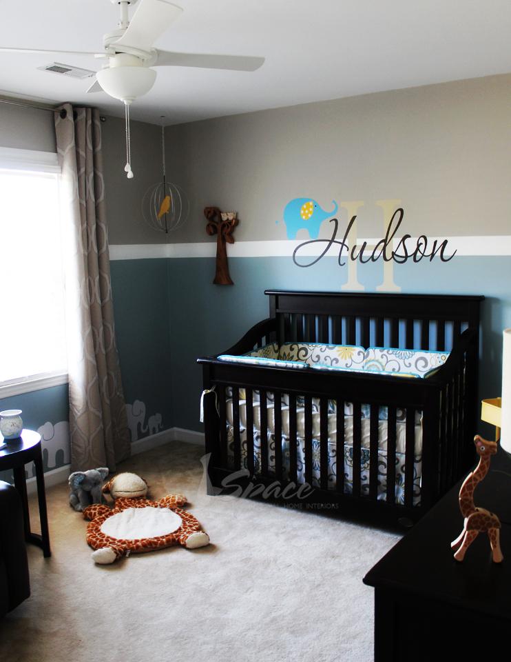 Luxury Baby Boy Rooms: Owl Giraffe & Elephant Nursery