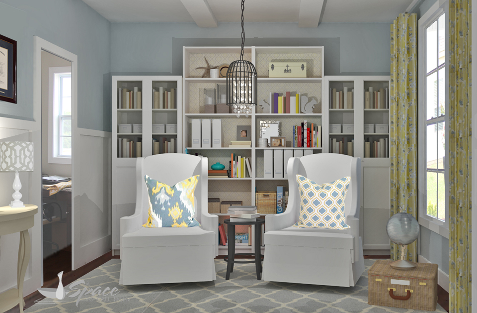 Blue Yellow Living Room Sitting Area A Space To Call Home
