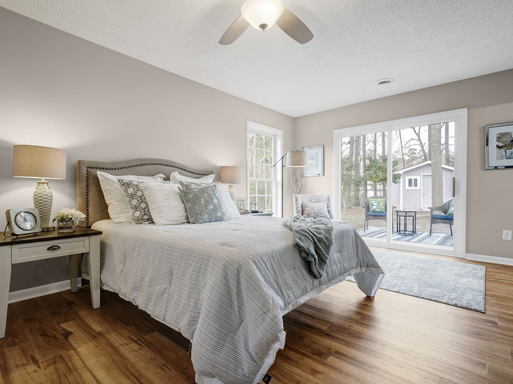 master bedroom before after home staging