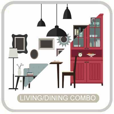 living dining open concept design virtual