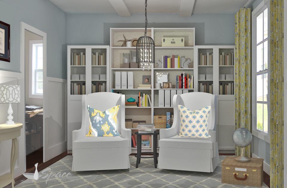 Virtual interior design - home library